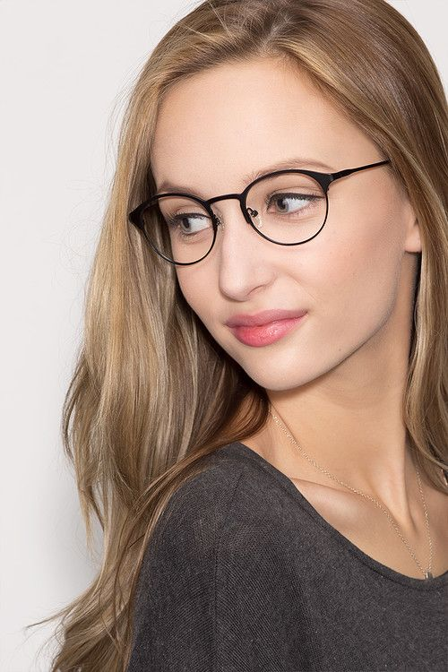little time women model image - Womens Metal Eyeglass Frames