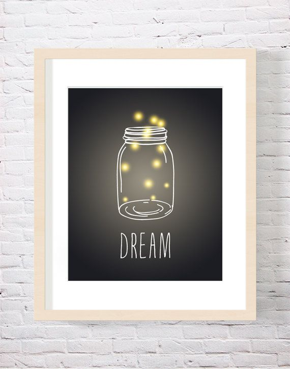 Dream Firefly Art Print Firefly Mason Jar Art by CarnivalePress, $18.00