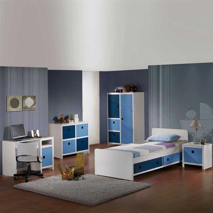 Kinderzimmer Einrichtung In Blau U0026 Weiß | Pharao24.de   Schöne Moderne  Jugendzimmer Möbel In Weiß Und Blau   Perfekt Für Jungen. Hier Entdecken:  Htu2026