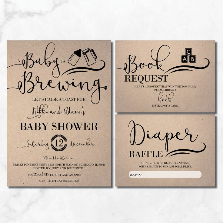 Baby is Brewing Shower Invitation | Rustic Baby Shower | Baby Brewing Invitation | Craft | Kraft | Baby is Brewing Baby Shower
