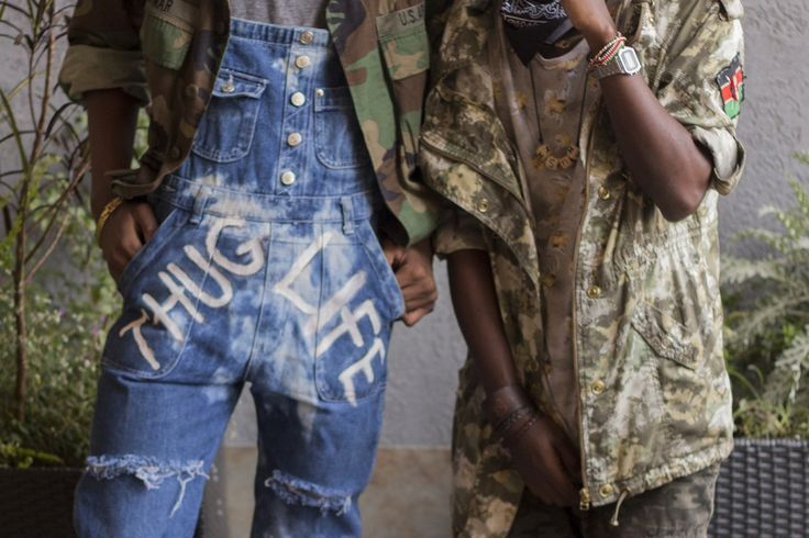 Thug life in bleached out denims, seen at Thrift Social 6 in Nairobi