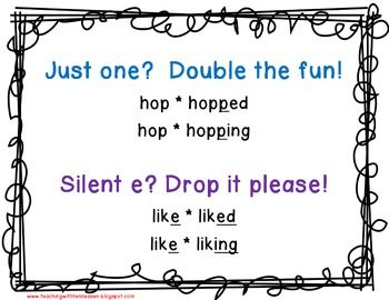 INFLECTIONAL ENDINGS: HOW TO SPELL WITH ED AND ING - TeachersPayTeachers.com