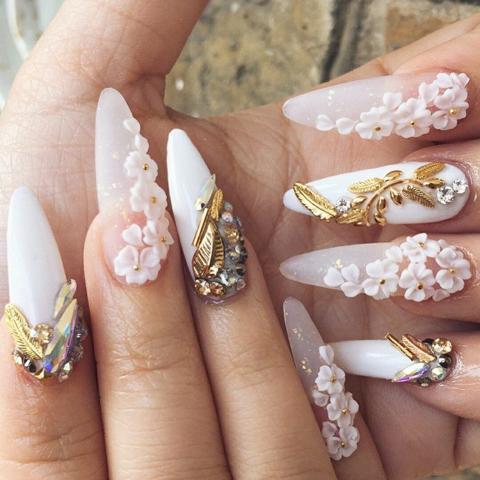 200 3d Nail Art That Will Help You Rock 2020 Checopie In 2020 3d Nail Designs 3d Nail Art Designs Diy Christmas Nail Art