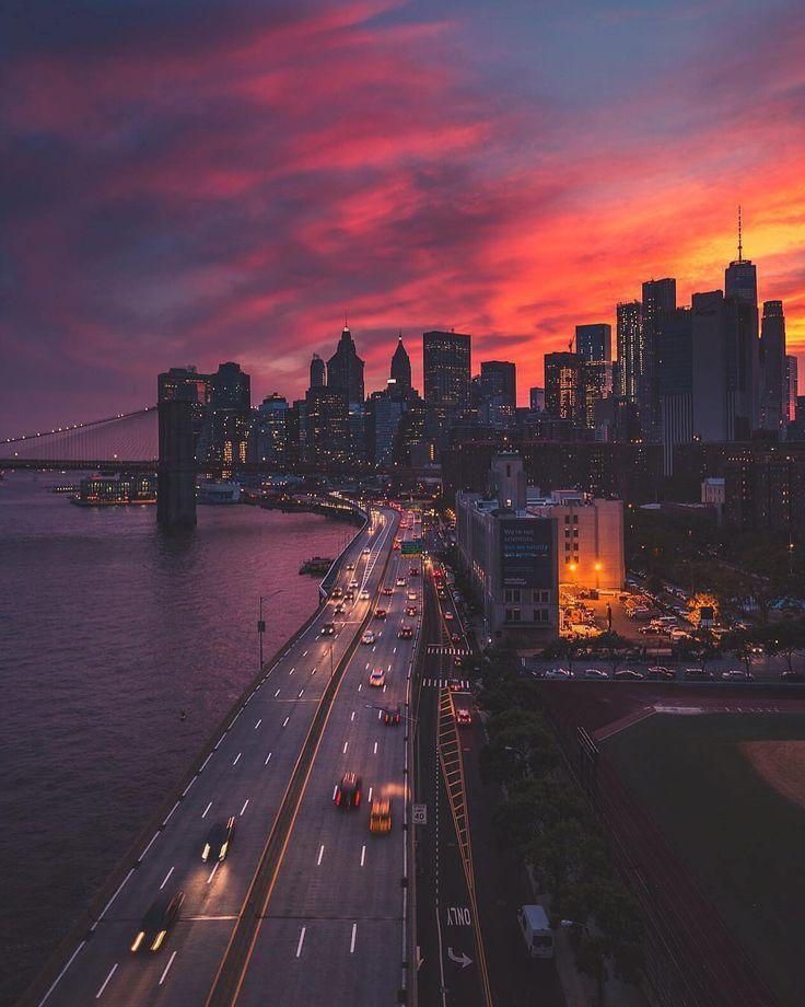 красивая картинка заката в городе вас интересует осенняя
