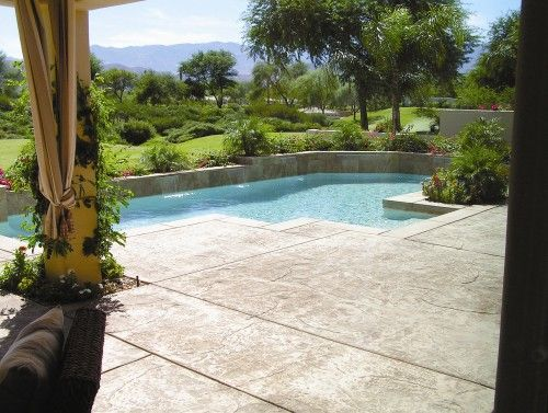 Stamped Concrete Stain As One Of Flooring Options