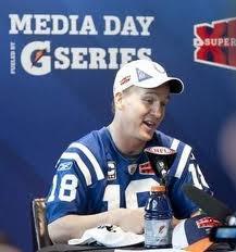 Super Bowl XLVI Peyton Maning