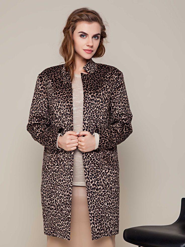 Женский кардиган пальто леопардовый. Коллекция весна-лето 2016