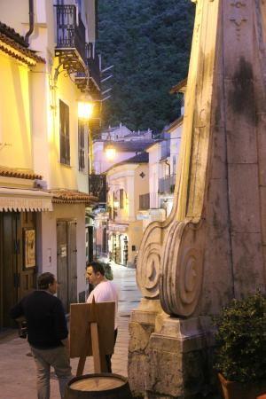 As the sun begins to set, Rosso Fermo | Via Salita Dell'addolorata, 1, Maratea, Italy #tripadvisor