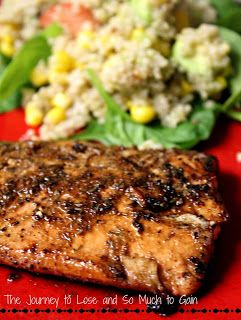 Garlic Balsamic Salmon and so many other interesting recipes. A mish mash.
