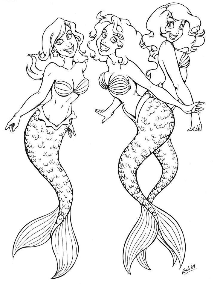 Mermaids friends by momo81deviantart