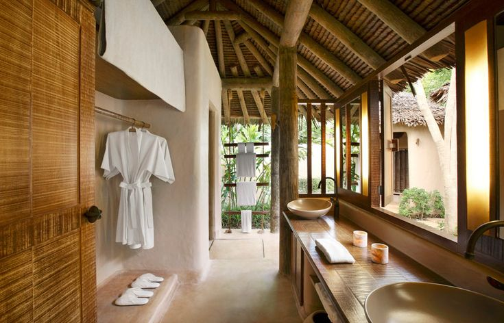 Guest bathroom. The Naka Island, Phuket. © Starwood Hotels & Resorts Worldwide