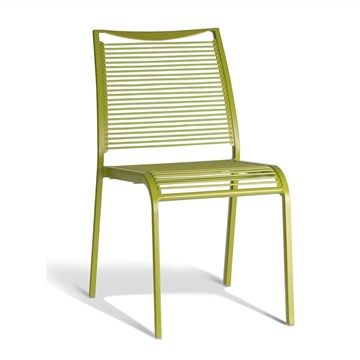 Waikiki Commercial Grade Aluminum Stackable Chair - Green