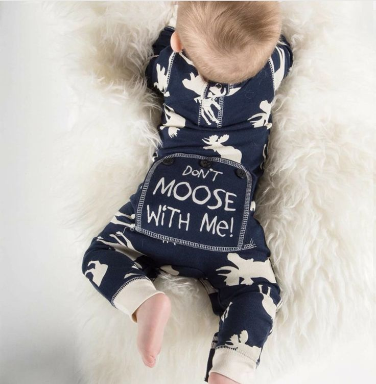 Don't Moose With Me / Baby Boy Romper / Coming Home Outfit / Baby Shower Gift / Newborn Baby Boy / Baby Boy Clothes / Baby Present / Modern Baby / Jumper / Black & White Baby / Trendy Baby