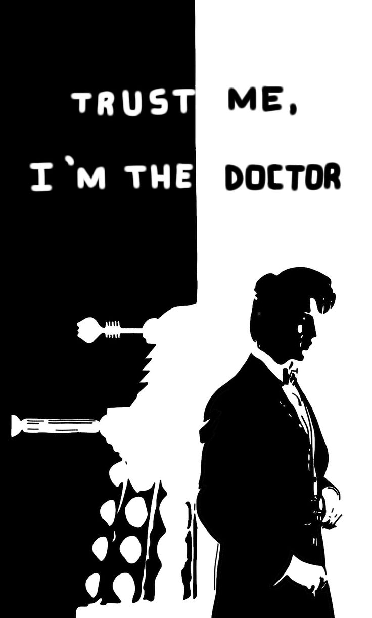 Trust me, I'm the doctor ~ Doctor who - Dalek (black and white)