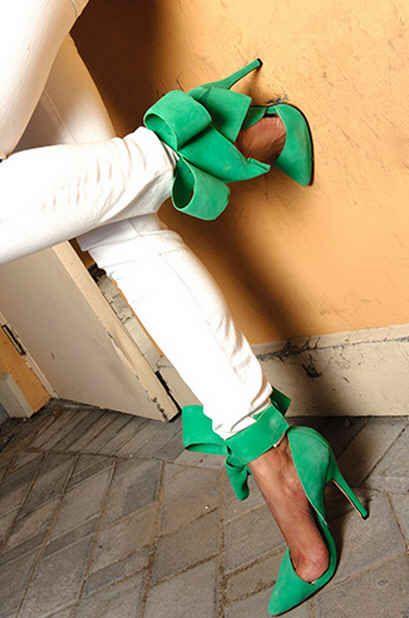 Green Bow Pumps