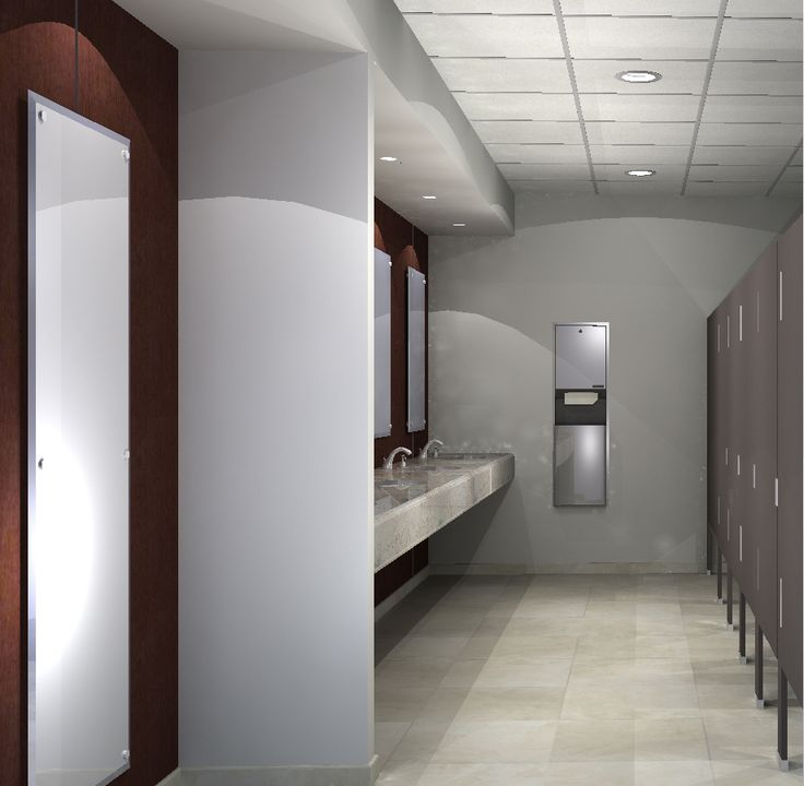 A Rendering I Did For A Corporate Building Public Restroom Interior Pinterest Building