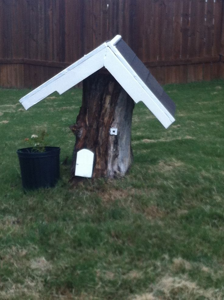 17 Best Images About Tree Stump Fairy Houses On Pinterest