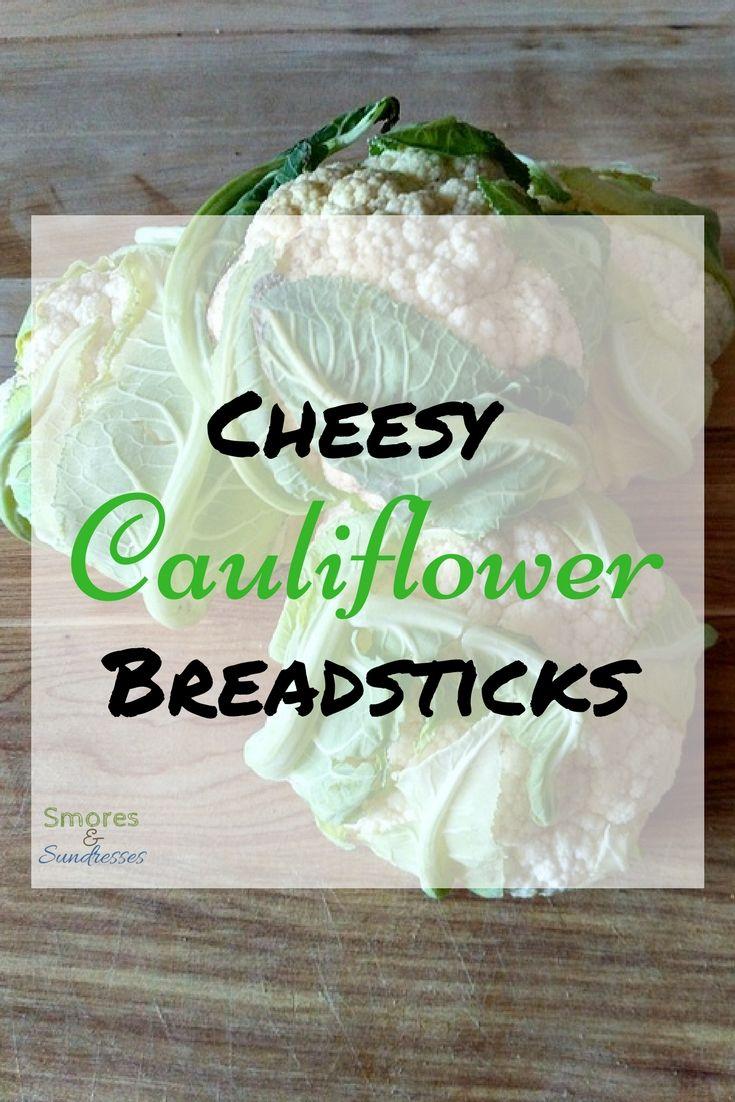 Smores & Sundresses - Cheesy Cauliflower Breadsticks - #recipe #yum #foodporn