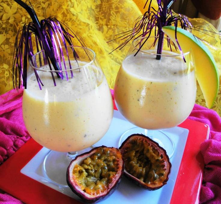 Shakie Paramaribo (shake van mango, passie en amandel)  Recept: http://www.surinaamseten.nl/showrec.php?IDREC=492