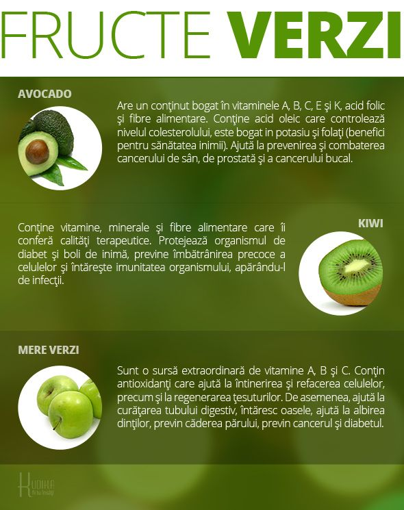 infografic - beneficiile fructelor verzi
