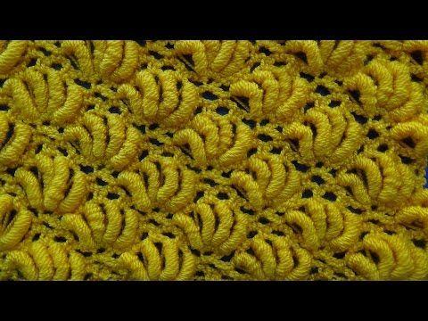 Punto crochet Abanicos de Rococo # 15 especial para cobijas de bebe - YouTube