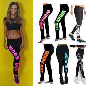 Women Capri YOGA Running Sport Pants High Waist Cropped Leggings Fitness Trouser