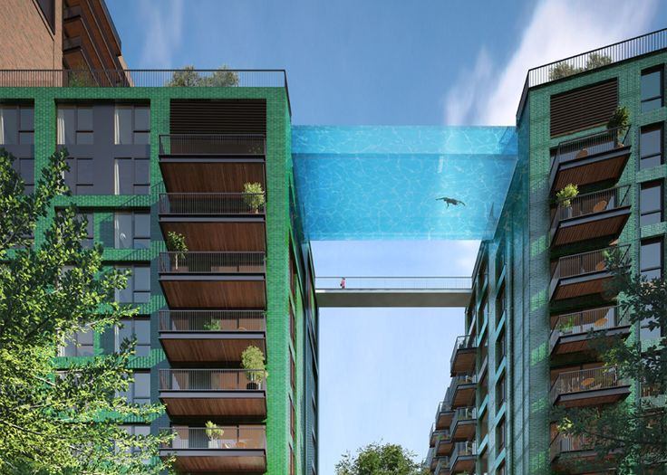 """Glass-bottomed """"sky pool"""" to be suspended above London"""