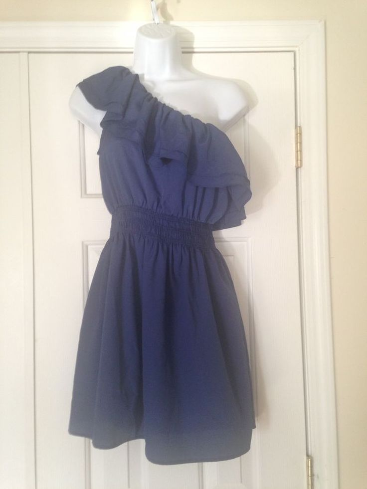 Body Central Blue One Shoulder Dress Summer/Spring Size Small | Clothing, Shoes & Accessories, Women's Clothing, Dresses | eBay!