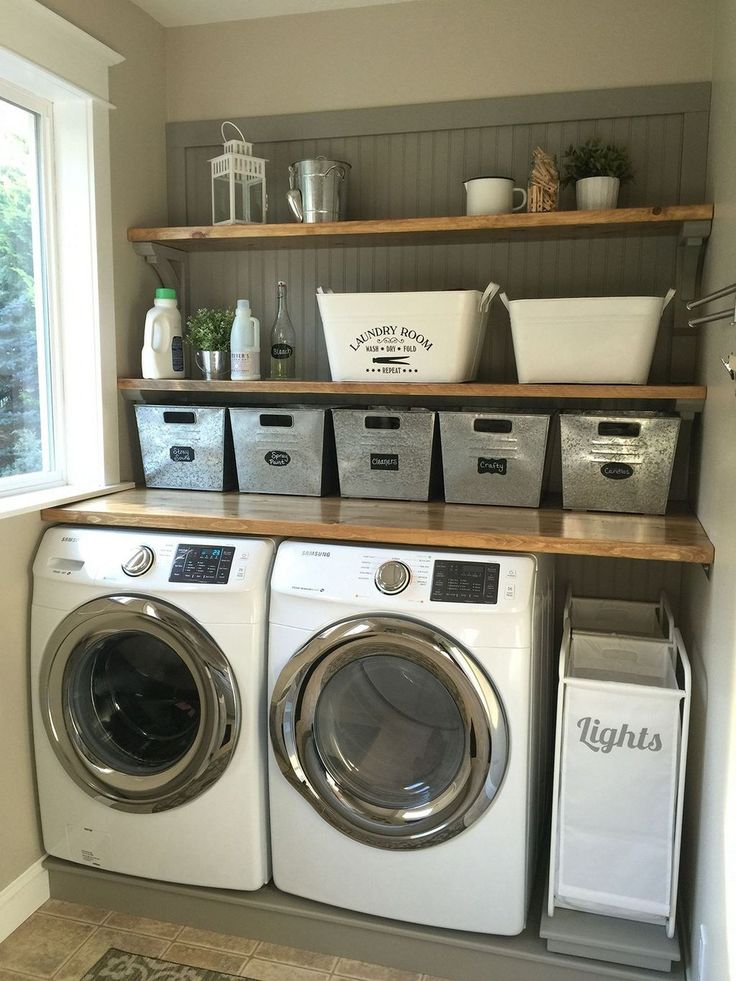 Inspiring Farmhouse Laundry Room Décor Ideas 39