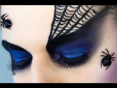 Halloween Miss Spider Woman makeup tutorial