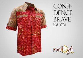 Tipa menarik untuk kamu pria bertubuh gemuk..Kemeja batik Confidence Brave ini cocok lho buat kamu :)