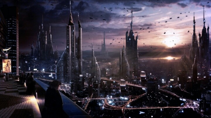 Futuristic City--like the towers of this one.