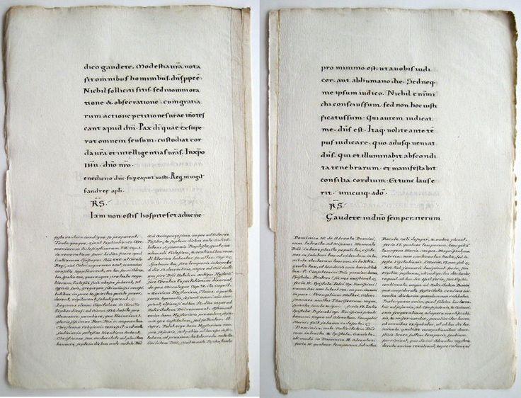 Bern Missale MANUSCRIPT Karolingische Minuskel HANDSCHRIFT Wasserzeichen  Anker