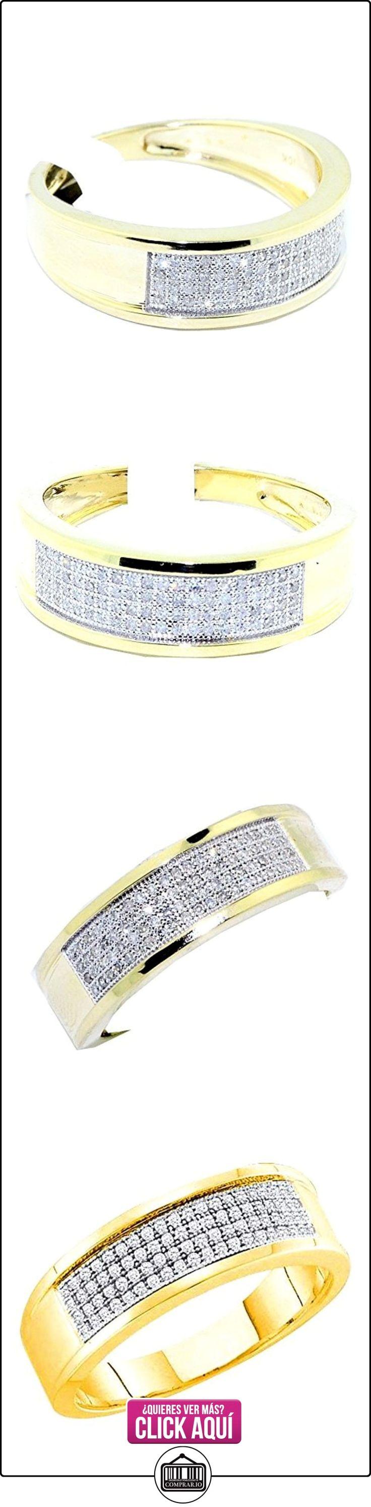 rings-midwestjewellery. com Hombre 1/4cttw Anillo de banda de bodas de diamante 10K oro amarillo 7mm de ancho (I/J Color 0,25quilates)  ✿ Joyas para hombres especiales - lujo ✿ ▬► Ver oferta: https://comprar.io/goto/B00WNKK18Q