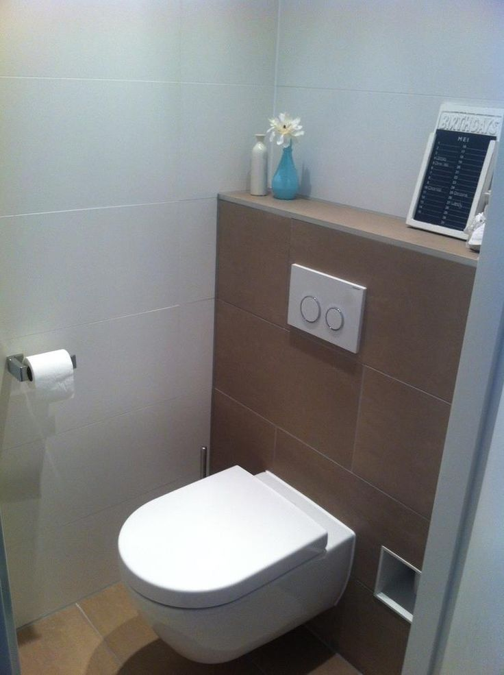 17 best images about badkamer en toilet on pinterest toilets shower tiles and christmas decor - Deco toilet ideeen ...