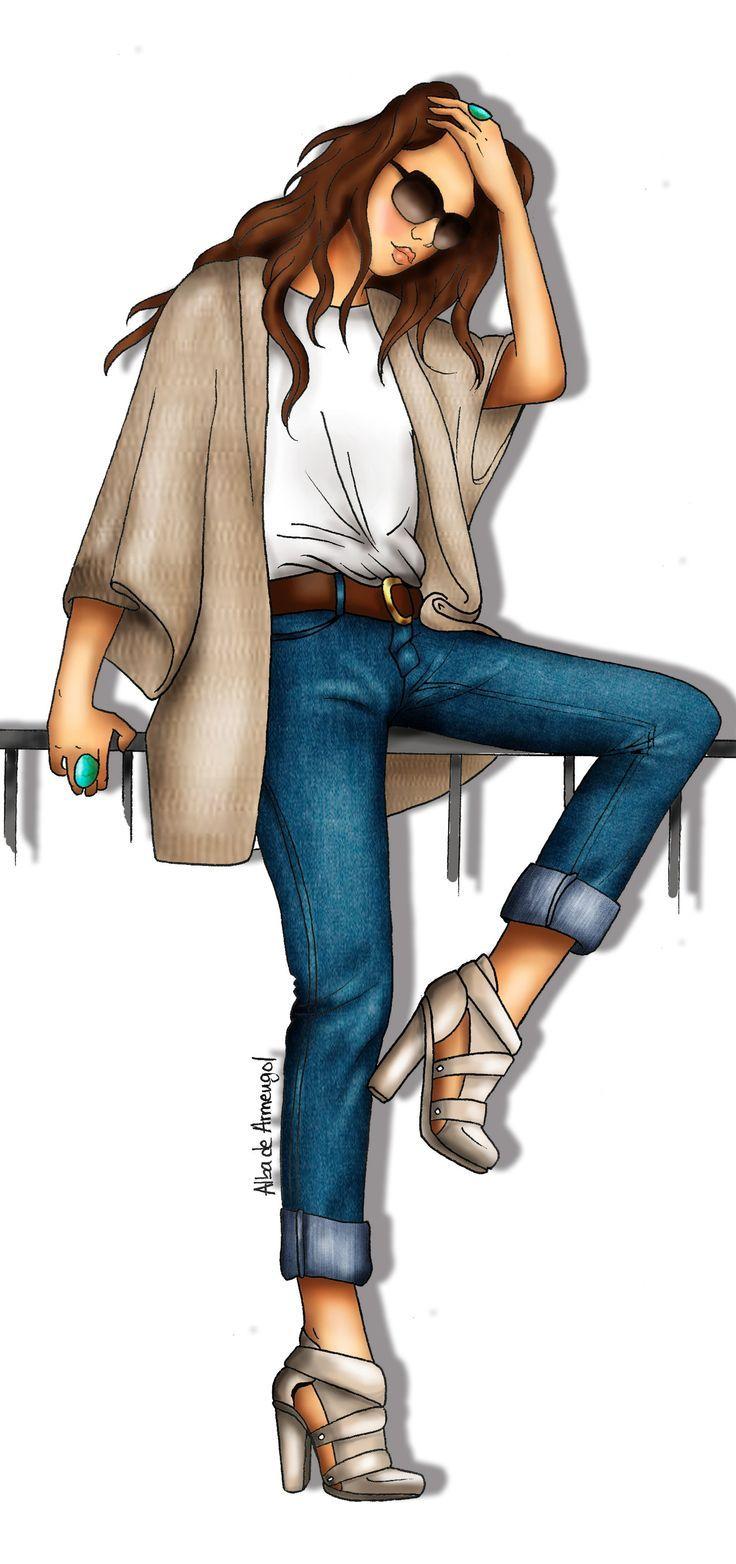 alba de armengol fashion illustration figurines