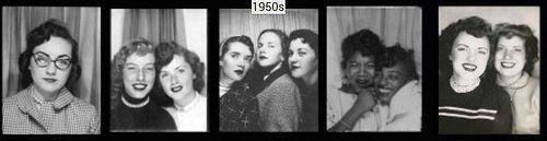 Изменение женской моды на основе снимков, сделанных девушками в популярных в то время фотобудках (1920-е -1970-е годы).