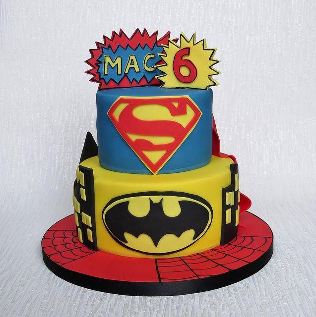 coloring pages batman spiderman cakes - photo#3