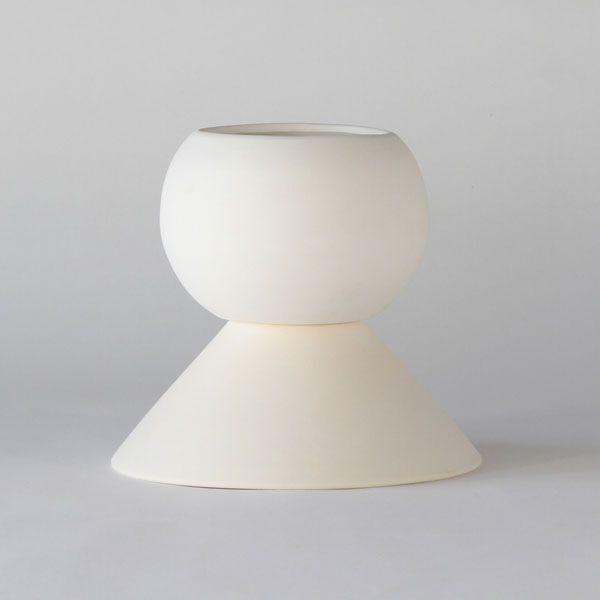 BC90 CERAMIC VASE+POT ↔20.0cm ↑19.5cm. White matte ceramic vase+pot. High quality handmade ceramics Designed+Made by Decovery | Essential Details.