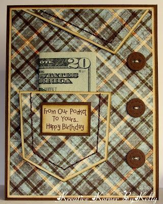 Nice idea but I would like an additional pocket layout inside the card to hold the money. Maybe put a hanky in pocket on the outside.