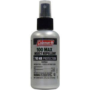 Coleman Max 100 Percent DEET Insect Repellent, 4 oz Pump Spray