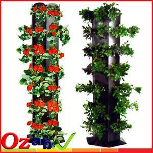 Flower Tower Planter | Great-Vertical-Planter-Flower-Tower-Garden
