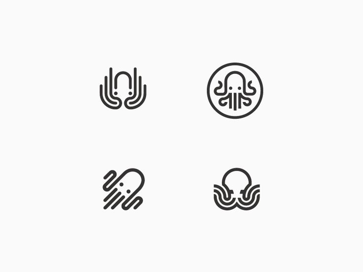 Enjoying much the process of creating octopuses for this logo project
