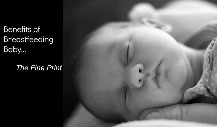 Benefits of Breastfeeding Baby {The Fine Print}