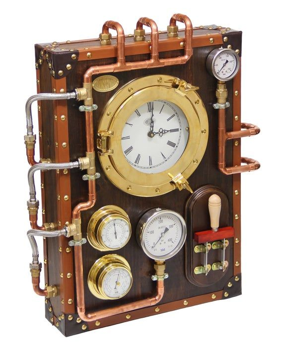 Wall Clock Berniscervera Industrial Steampunk Old And Vintage Etsy Wall Clock Clock Retro Wall Clock