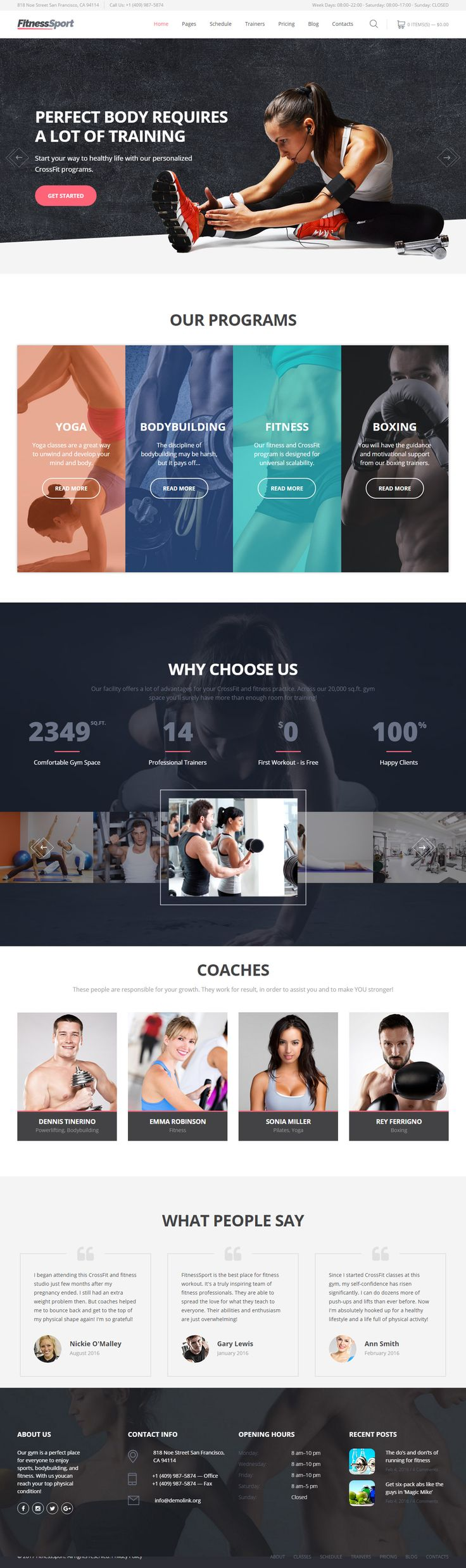 FitnessSport is Premium Responsive Parallax #HTML5 Template. Bootstrap 3 Framework. If you like this #FitnessTemplate visit our handpicked list of best #Gym and #Fitness Template at: http://www.respon