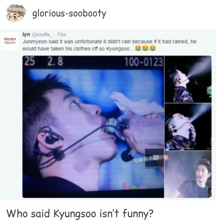 Nah, he being sarcastic tho | Hilarious either way! #EXO #DO #Suho
