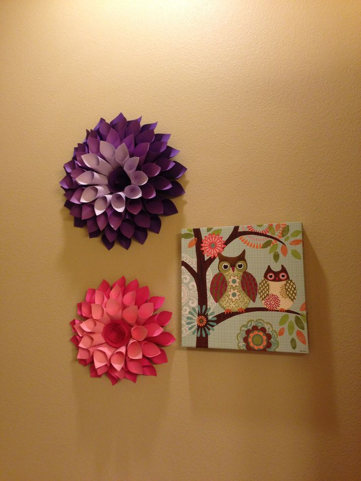18 best pins that ive tried images on pinterest letter boxes another picture of my paper dahlia wreath i though this went well with the owl canvas from michaels in my childrens bathroom mightylinksfo