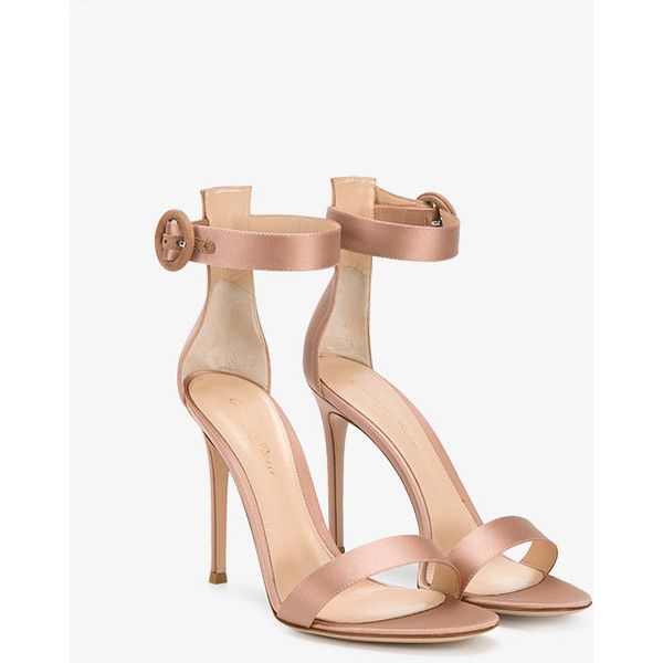 Gianvito Rossi Nude Satin Portofino Heels ($830) ❤ liked on Polyvore featuring shoes, pumps, nude court shoes, nude shoes, nude pumps, nude footwear and gianvito rossi pumps