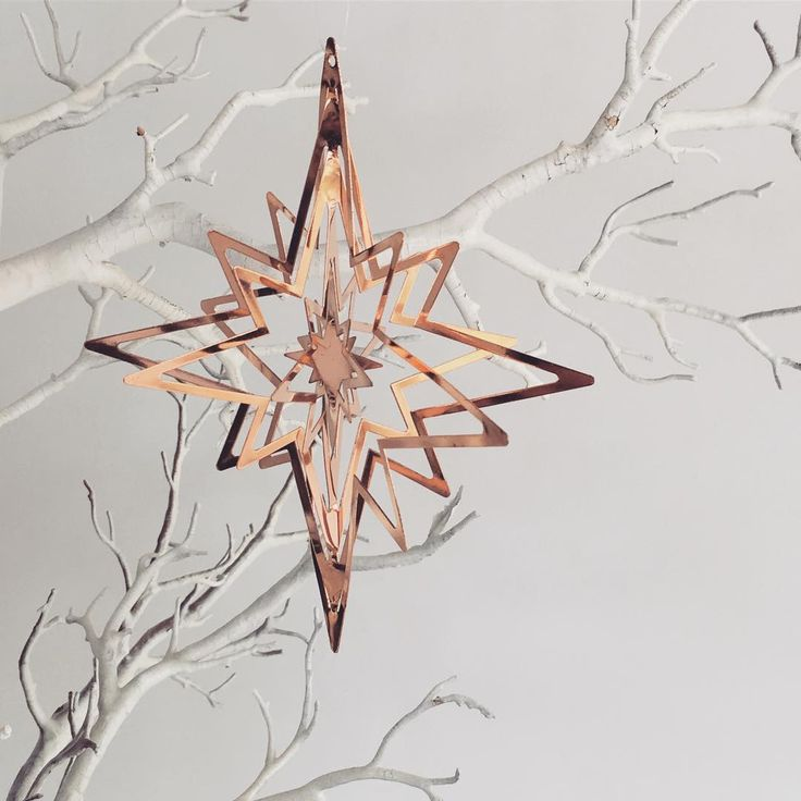 Rose gold North Star Christmas ornaments online now🌟#neueblvd #christmas #rosegold #christmasdecor #christmas2016 #christmastime #christmasdecoration #gifts #giftideas #personalisedgifts #treedecorations #stardecorations